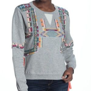 Let Me Be | Reaching Out Beaded Sweatshirt | L